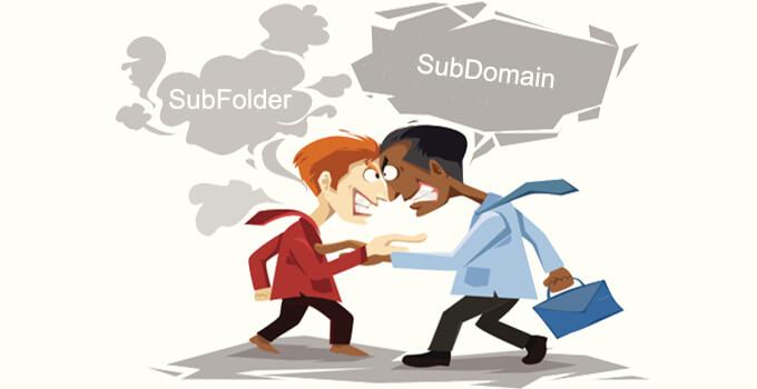 sub folder vs subdomain