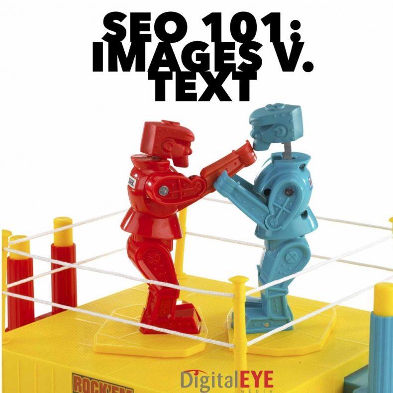seo image v text