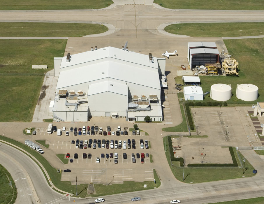 aerial of hangar