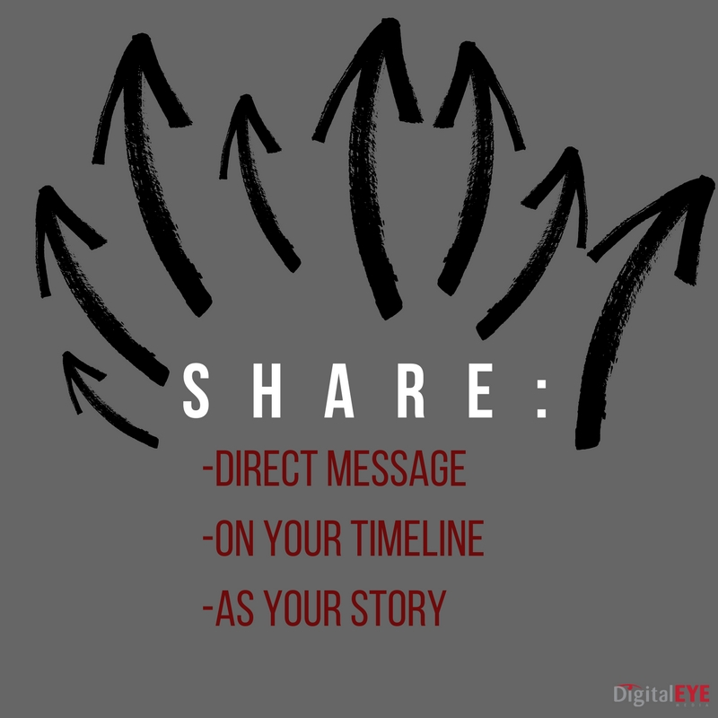 share facebook stories direct message timeline or your story
