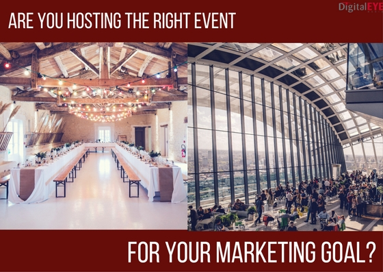 hosting the right event for your marketing venue