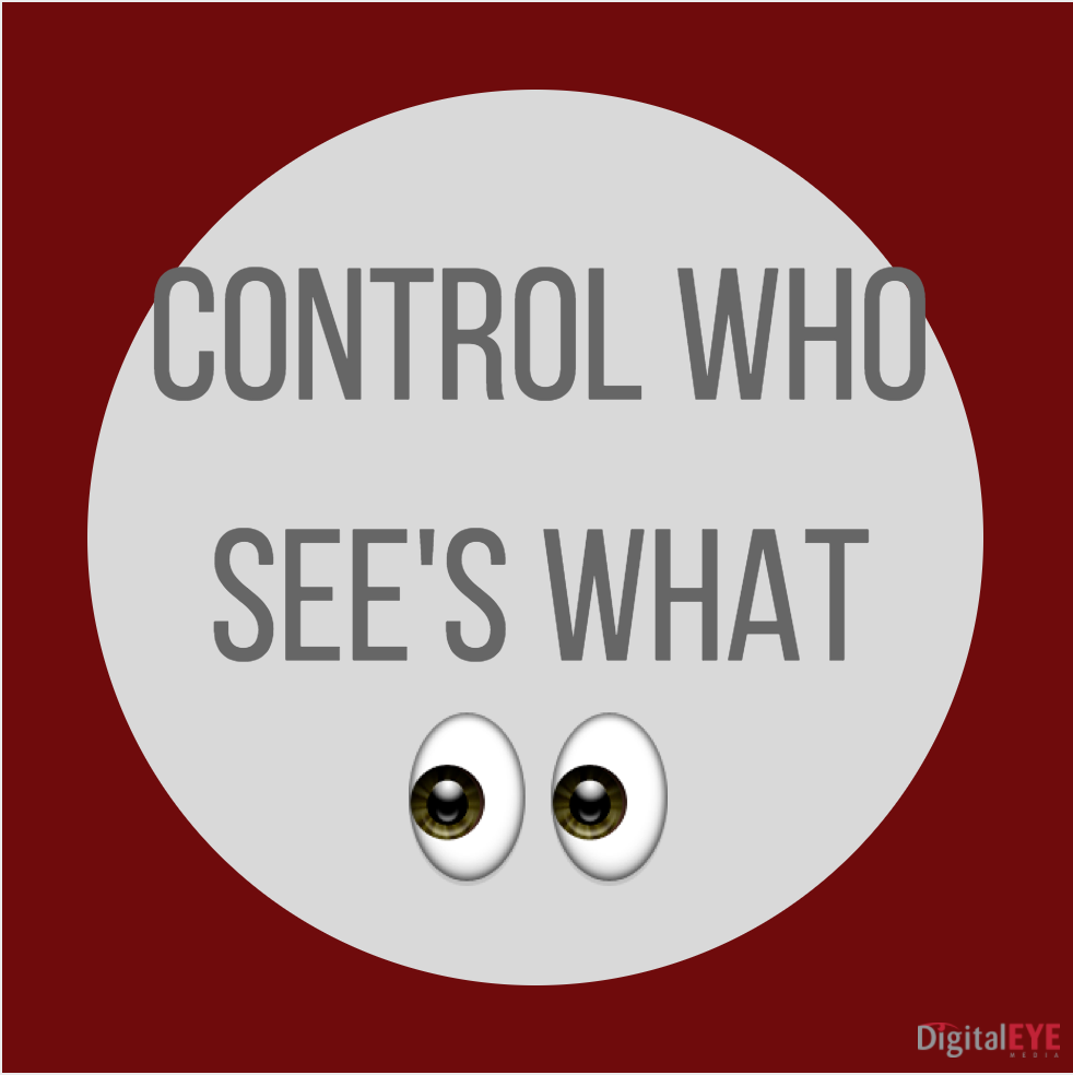 control who sees what on facebook stories